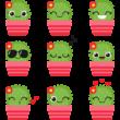 Édes kaktuszok színes falmatrica csomag