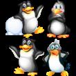 Aranyos pingvinek színes falmatrica csomag