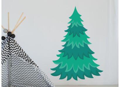 Fenyőfa színes falmatrica