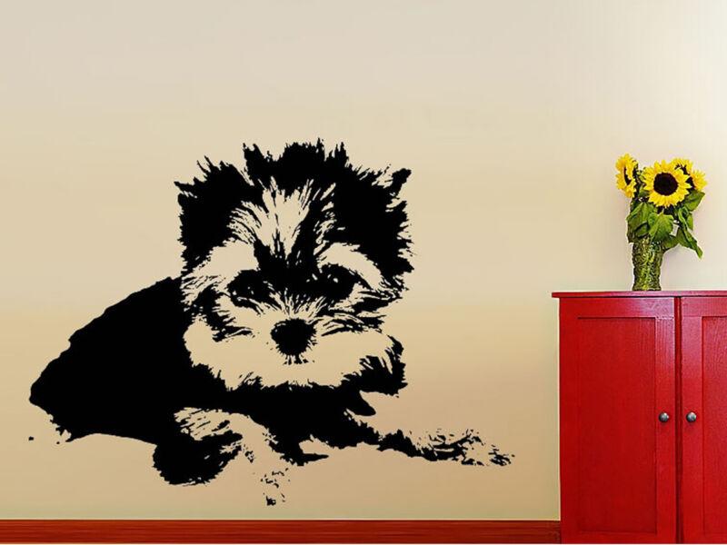 """Yorkie"" kutyus falmatrica - Fekete - Közepes: 79cm x 60cm"
