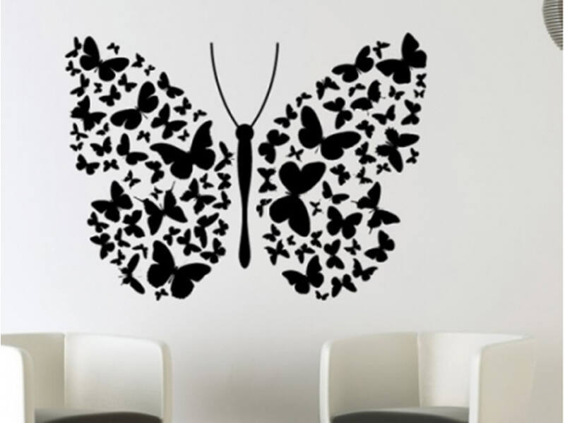 Schmetterling Wandtattoo 09
