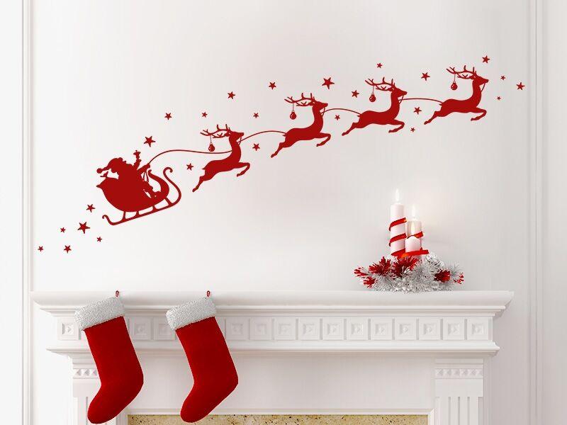 Karácsonyi szán falmatrica