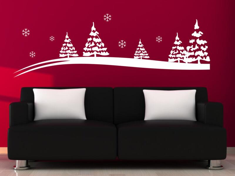 Karácsonyi táj falmatrica 02