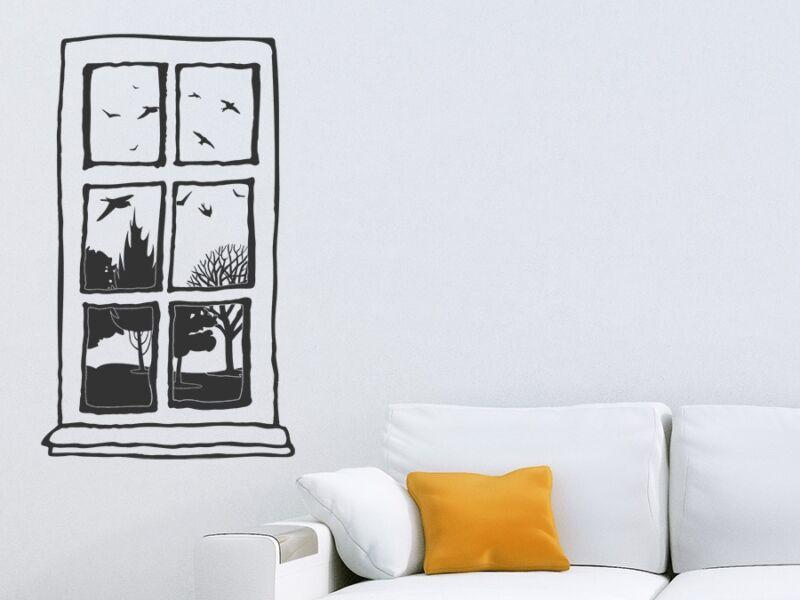 Nosztalgikus ablak falmatrica
