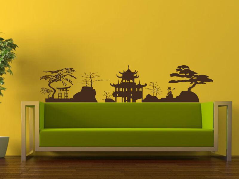 Ázsiai tájkép falmatrica