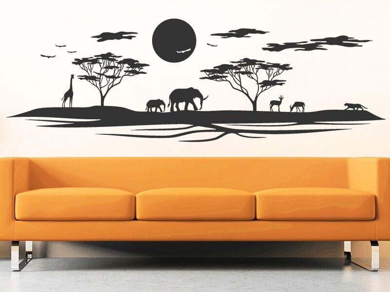 Afrikai tájkép falmatrica