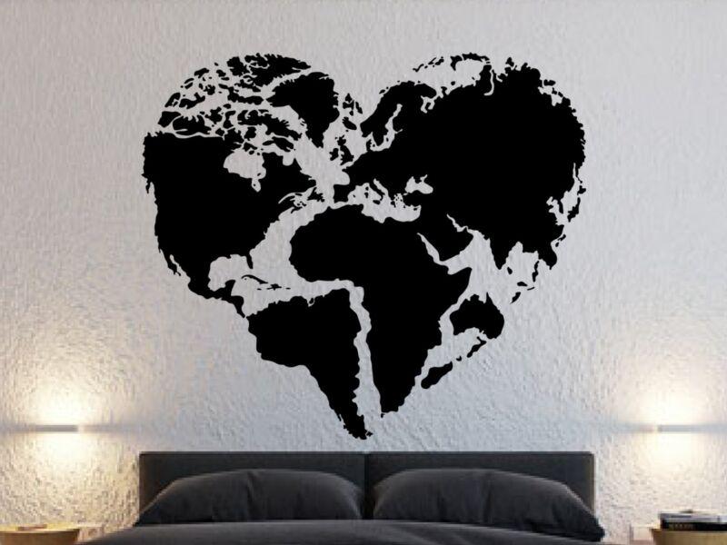 föld térkép szív