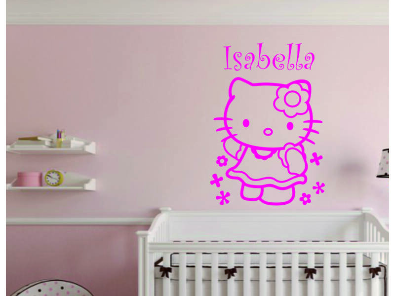 Saját névre szóló, Hello Kitty falmatrica