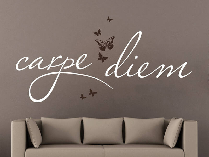 Carpe Diem pillangós idézetek falmatrica