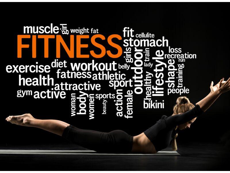 Fitness motivációs falmatrica