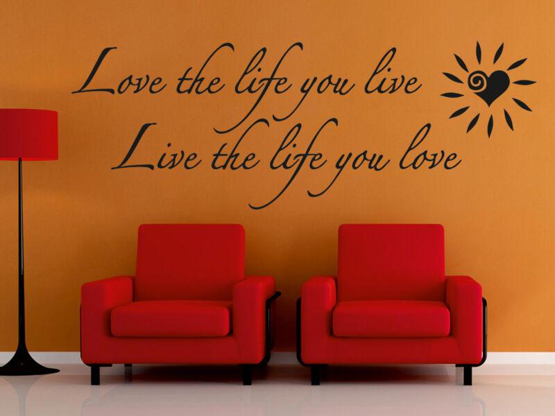 """""""Szeresd az életet..."""" idézetek falmatrica"""
