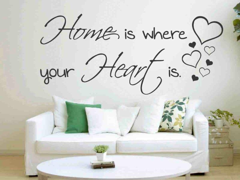 Otthon idézetek falmatrica