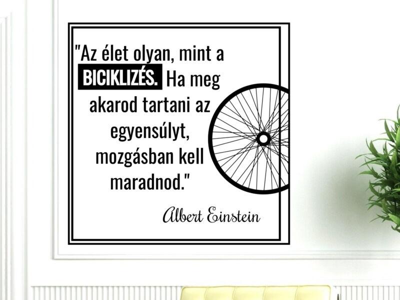 Kerékpáros idézetek falmatrica