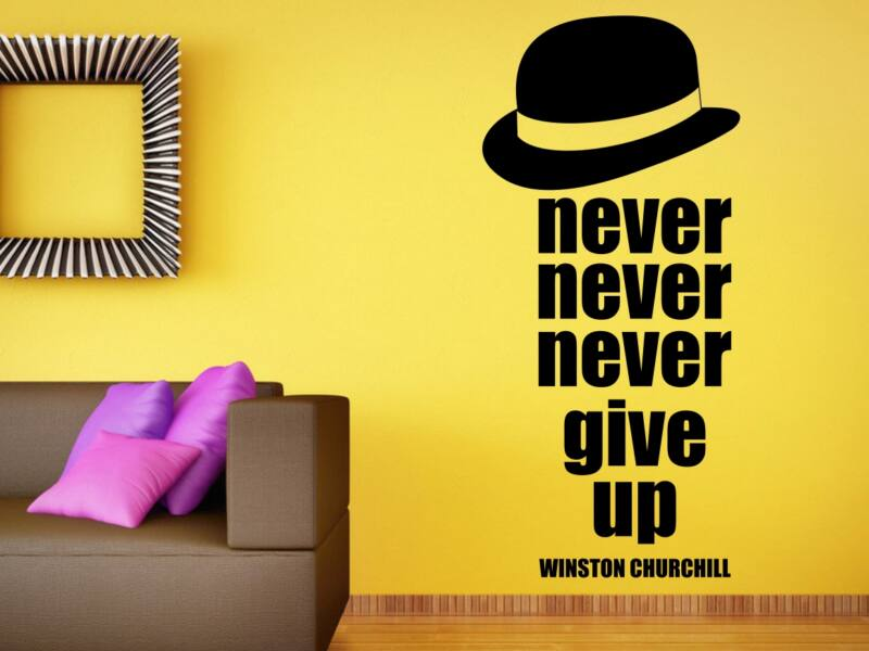 Winston Churchill Never Give Up idézet