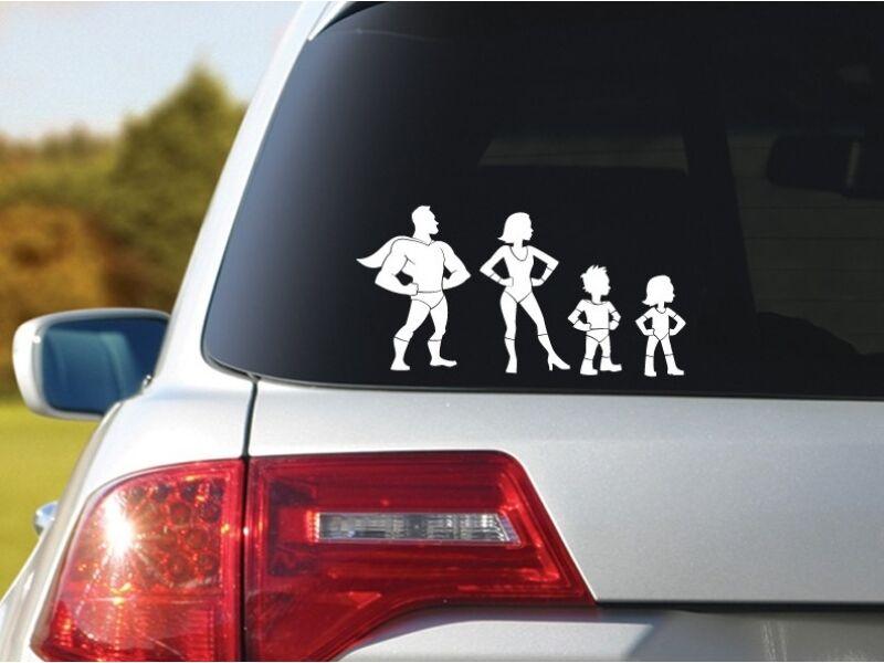 Hihetetlen család kocsimatrica