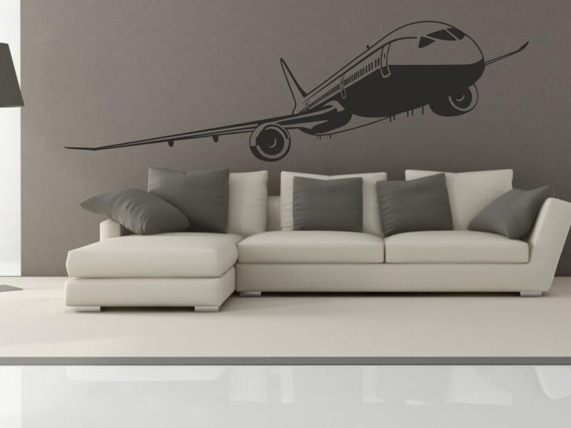 Utasszállító repülőgép falmatrica