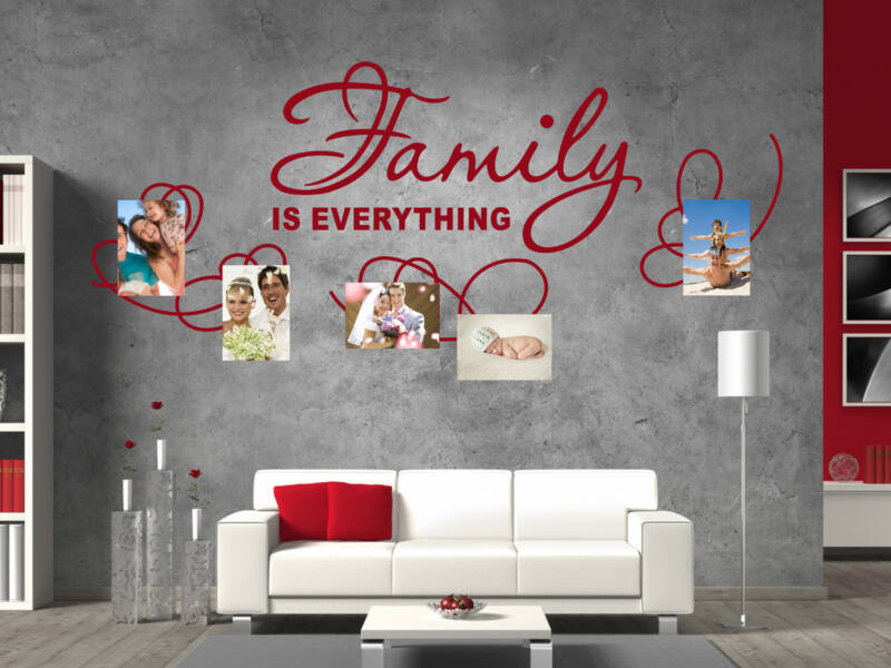 Fényképes család falmatrica