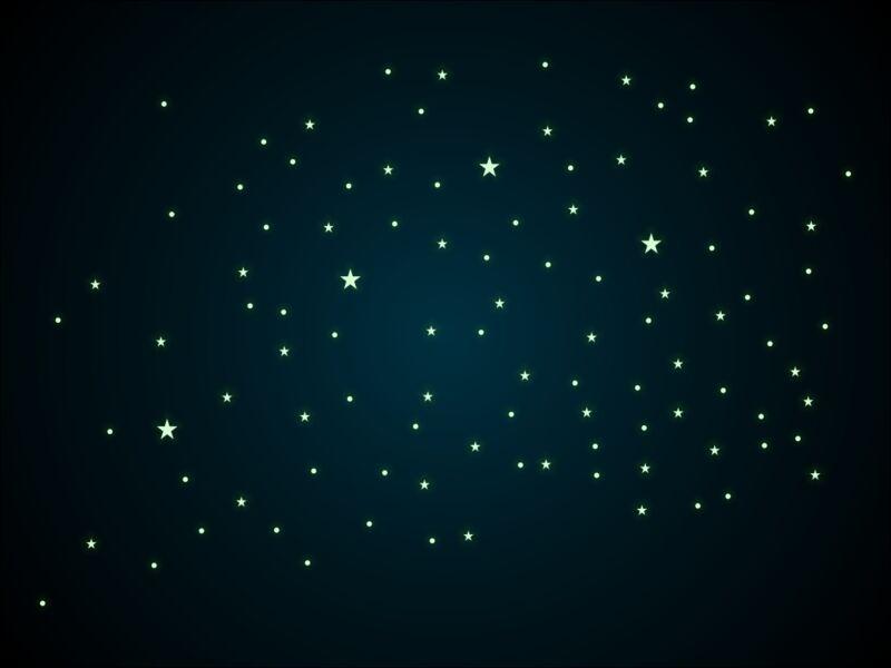 104db-os foszforeszkáló csillag és pont csomag