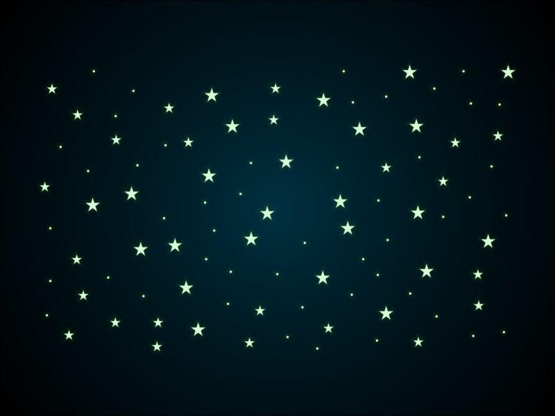 96db-os foszforeszkáló csillag csomag