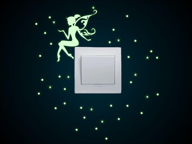 Villanykapcsoló Foszforeszkáló tündér csillagokkal