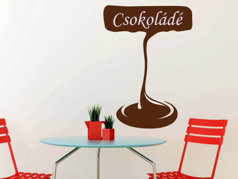 Csokoládés falmatrica