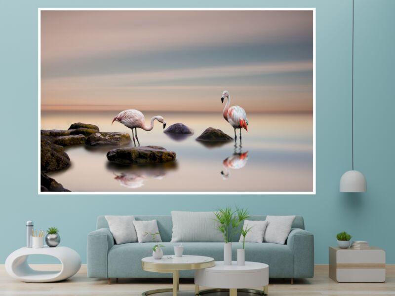 Flamingó 1 - Öntapadós poszter