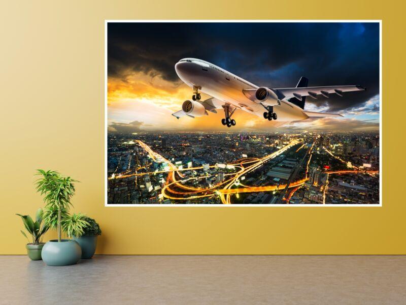 Repülőgép - Öntapadós poszter