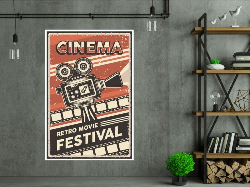 Retro mozi - Öntapadós poszter