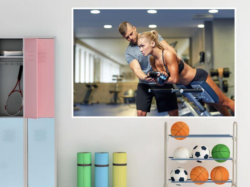 Fitness 77 - Öntapadós poszter
