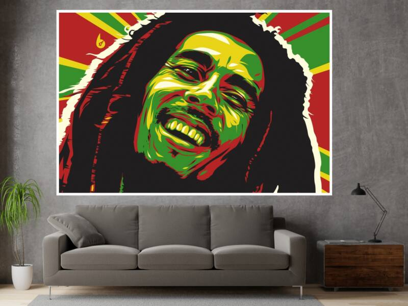 Bob Marley - Öntapadós poszter