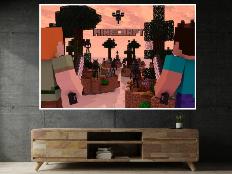 Minecraft 1 - Öntapadós poszter