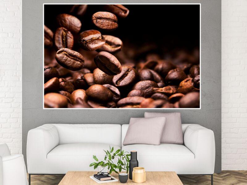 Kávészemek 01 - Öntapadós Poszter