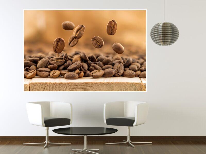 Kávészemek 03 - Öntapadós Poszter