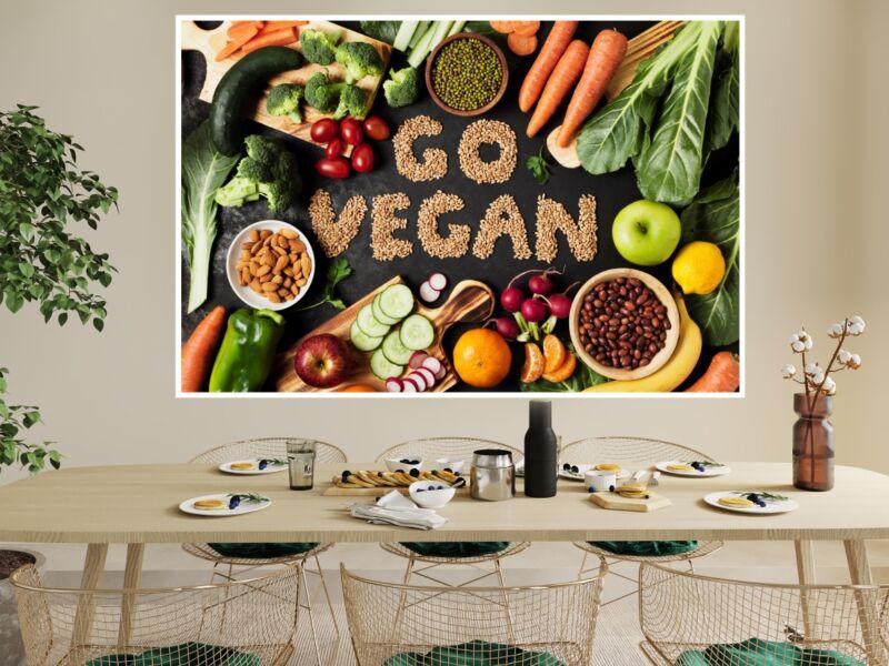 Vegán konyha - Öntapadós poszter
