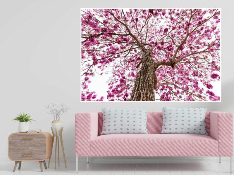 Virágos fa - öntapadós poszter