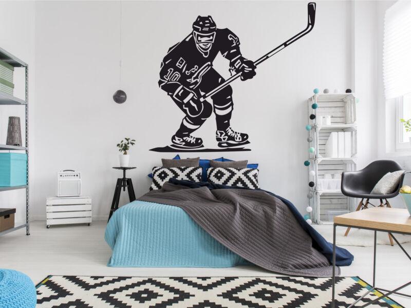 Hockey játékos falmatrica 01