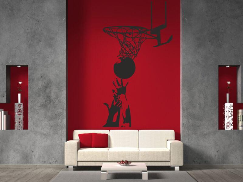 Kosárlabda palánkkal falmatrica