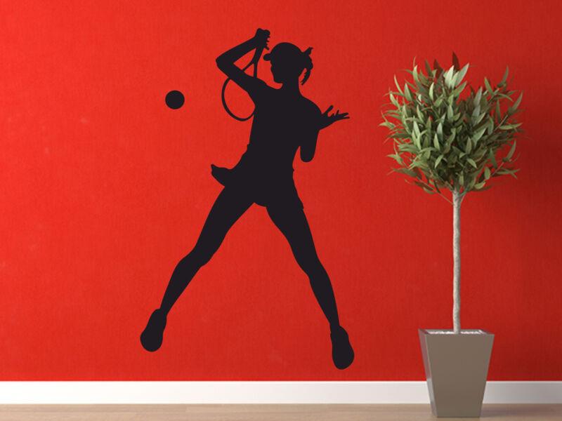 Női teniszező falmatrica 02