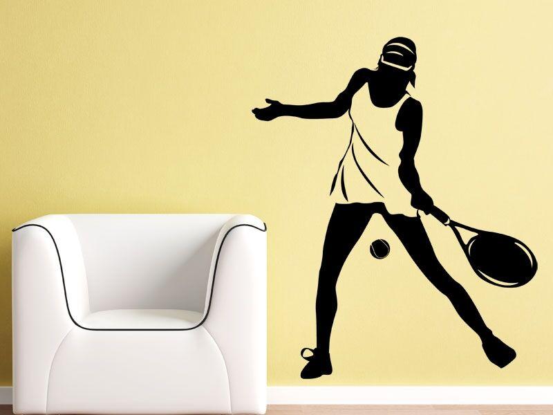 Női teniszező falmatrica