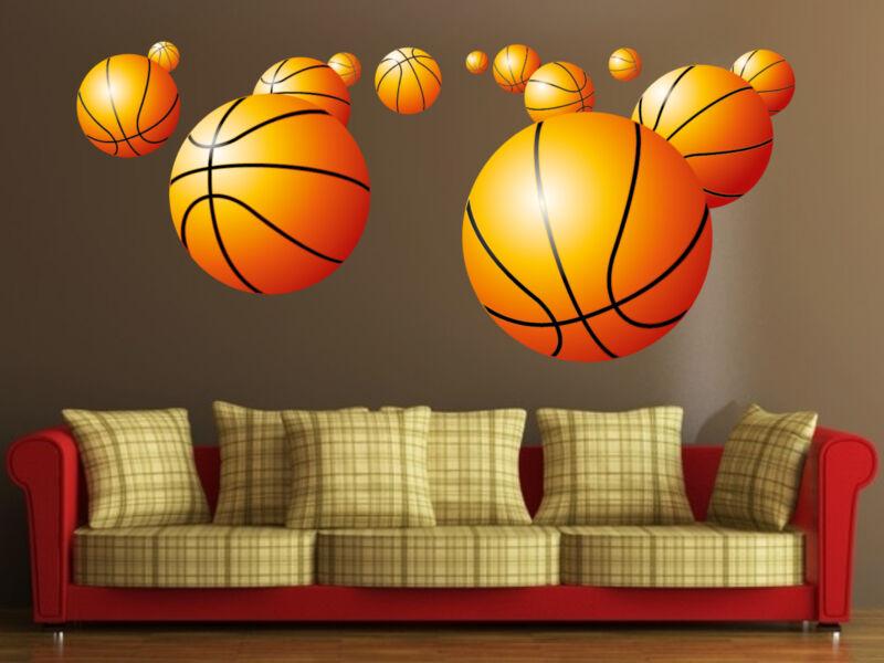 Kosárlabdák színes falmatrica