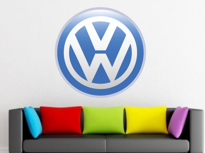 Volkswagen logo színes falmatrica