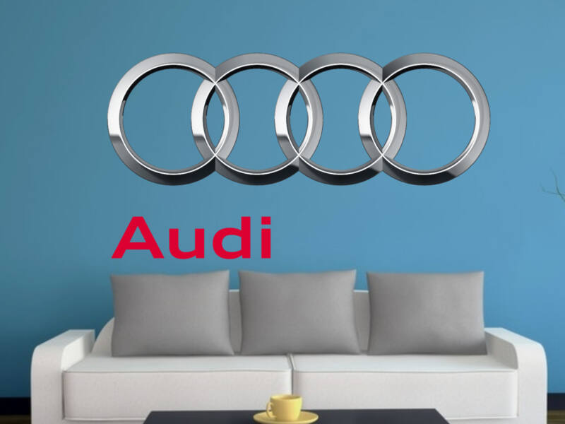 Audi logo színes falmatrica