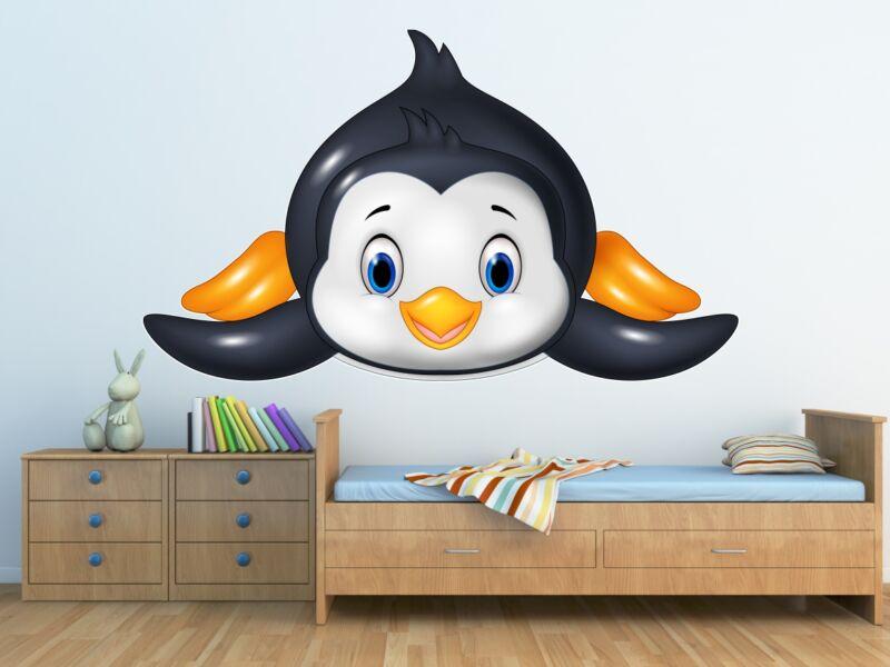Aranyos Pingvin - Színes falmatrica