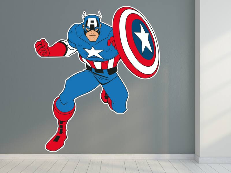 Amerika Kapitány színes falmatrica 01