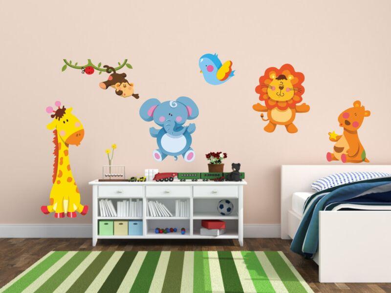Aranyos állat gyűjtemény színes falmatrica