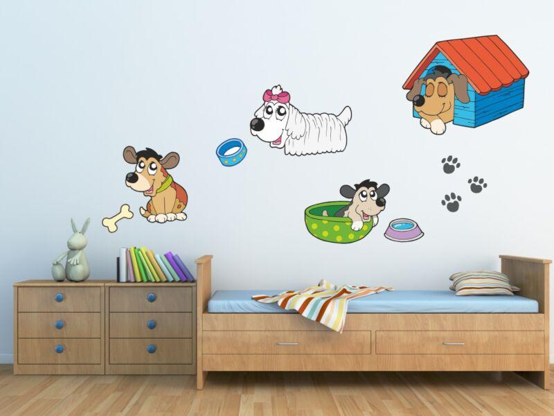 Aranyos kutya gyűjtemény 1 színes falmatrica