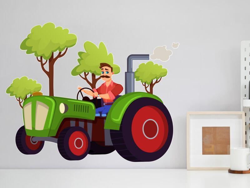 Traktoros 01 - Színes falmatrica
