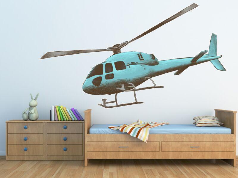 Helikopter 01 - Színes falmatrica