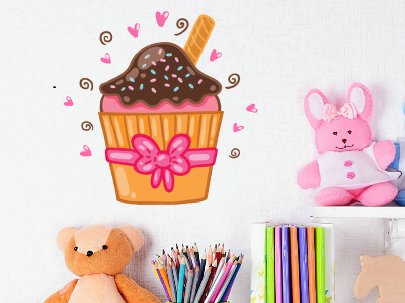 Muffin színes falmatrica