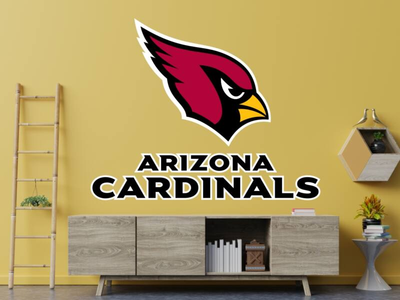 NFL Arizona Cardinals Logo - Színes falmatrica